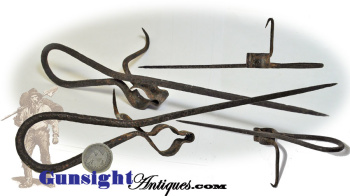 19th century hand wrought  'Sticking Tommy' CANDLE HOLDER  (Image1)