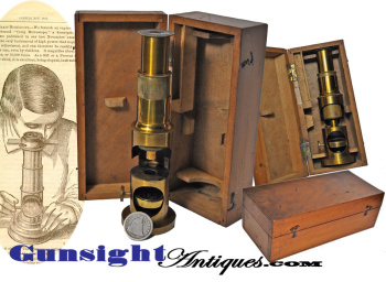 Civil War vintage MICROSCOPE (Image1)