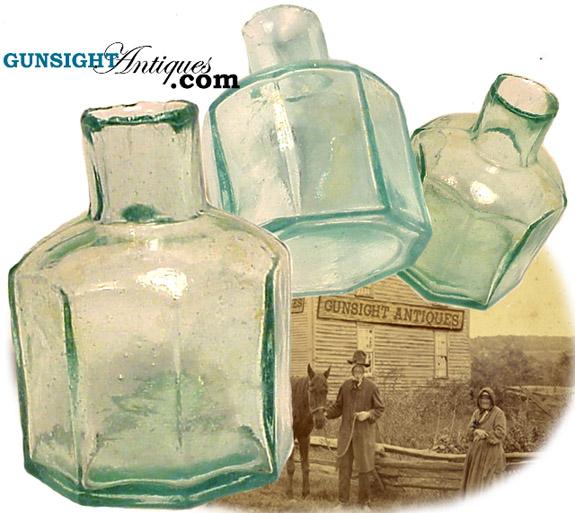 Civil War era GLASS INKWELL (Image1)