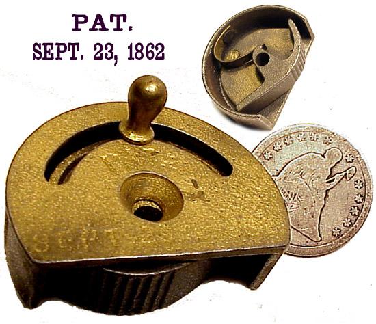 Civil War PATENT DATE WINDOW-SASH LOCK (Image1)