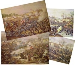 Click here to enlarge image and see more about item 1417: Kurz & Allison BATTLES OF THE CIVIL WAR  prints