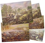 Click here to enlarge image and see more about item 1427: Kurz & Allison BATTLES OF THE CIVIL WAR  prints