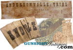 Click here to enlarge image and see more about item 1854: ANDERSONVILLE TRIAL  BANNER