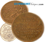 Click here to enlarge image and see more about item 1870: c. 1833 American MILLITARY BUTTON MAKER TOKEN