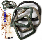 Click here to enlarge image and see more about item 1944: Revolutionary War era EXCAVATED SHOE & KNEE BUCKLES
