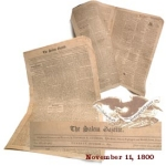 Click here to enlarge image and see more about item 2010: THE SALEM GAZETTE -  Salem, Mass. - November 11, 1800