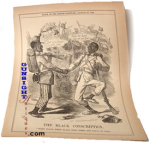 Civil War Punch Cartoon – THE BLACK CONSCRIPTION