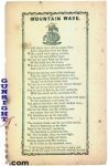 Click here to enlarge image and see more about item 3001: c. 1850s - MOUNTAIN WAVE – Broadside / Song Sheet