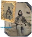 Click here to enlarge image and see more about item 2301-2: Civil War 1/4 plate TINTYPE