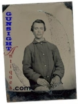 Civil War ENLISTED Quarter Plate TINTYPE