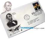 Click here to enlarge image and see more about item 2466: Abraham Lincoln 1st Day Postal Cover