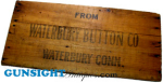 Click here to enlarge image and see more about item 2480: WATERBURY BUTTON Co. wooden shipping crate panel