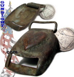 Click here to enlarge image and see more about item 2753: Civil War site EXCAVATED BRASS BUCKLE