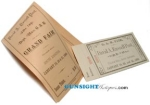 Civil War Vet's GAR FAIR LOTTERY TICKET & PRIZE LIST