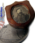 Civil War Mjr. Gen. Gen. Crittenden � CARVED BURL TIE SLIDE