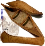 turn of the century - souvenir Penobscot Indian BIRCH BARK CANOE