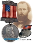 Click here to enlarge image and see more about item 3055: 1891 Illinois CIVIL WAR Vet's / G.A.R. ENCAMPMENT MEDAL