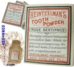 Click here to enlarge image and see more about item 3057: Civil War era TOOTH POWDER  LABEL