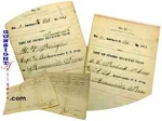 Click here to enlarge image and see more about item 3086: 2 Civil War dated - 29th Connecticut Infantry  DOCUMENTS