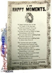 earlier 1850s / Civil War era  – Broadside / Song Sheet