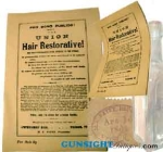 Click here to enlarge image and see more about item 3115: Civil War era - UNION Hair Restorative -  BROADSIDE