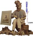 Click to view larger image of Civil War era Street Cobbler ALBUMIN PHOTO (Image2)