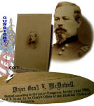 Click to view larger image of Civil War vintage Mjr. Gen. McDowell – Brady C.D.V. (Image2)