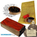 Civil War era Dr. Strong's STOMACH PILLS /  UN-OPENED PACKET