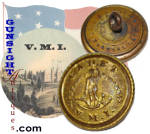 Click here to enlarge image and see more about item 3508: CIVIL WAR era Virginia Military Institute  BUTTON