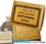 Civil War era Patent Medicine LABEL