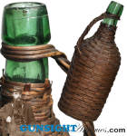 Civil War era WICKER UTILITY BOTTLE