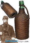 Click to view larger image of Civil War era WICKER UTILITY BOTTLE (Image2)