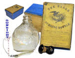 Click to view larger image of Mid 1800's Nursing BOTTLE & BOX (Image1)
