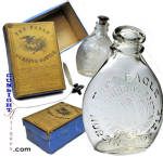 Click to view larger image of Mid 1800's Nursing BOTTLE & BOX (Image2)