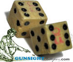 Click to view larger image of Civil War era tariff marked BONE DICE (Image1)