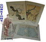 frameable size - Civil War era Union Engineers TOPOGRAPHICAL MAPS