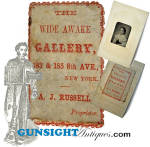 Click here to enlarge image and see more about item 3908: scarce!!  A. J. Russell – WIDE AWAKE GALLERY Tintype