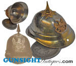 Click here to enlarge image and see more about item 3896: Indian War era Veteran Ribbon SPIKE HELMET SUSPENSION