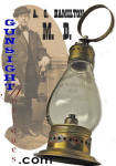 Click here to enlarge image and see more about item 4006: Dr. A. O. Hamilton  -  Whale Oil LANTERN