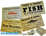 Click here to enlarge image and see more about item 4030: Civil War vintage Fish Monger TRADE CARDS
