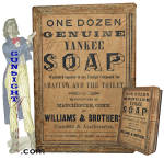 Click here to enlarge image and see more about item 4055: Civil War era  YANKEE SHAVING SOAP BOX