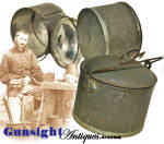 Click here to enlarge image and see more about item 4060: Civil War era TINNED IRON COOKER