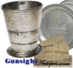 Civil War vintage - Philadelphia maker marked: COLLAPSIBLE CUP