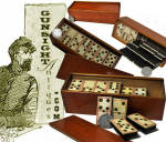 especially nice early BONE DOMINOES – full set