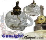 Click here to enlarge image and see more about item 4242: Civil War era Patriotic Pressed Glass FINGER LAMP