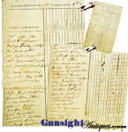 Click to view larger image of c.1822 - 8th CONN. MILITIA INSPECTION RETURN (Image3)
