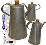 Earlier to mid 1800s tinned sheet iron LAMP OIL Can
