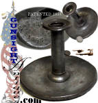 Click here to enlarge image and see more about item 4366: Patent 1853 'PUSH-UP' CANDLESTICK