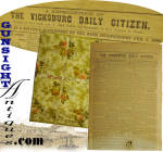 rare ! Bath, Maine 1889, republished – 1862 Vicksburg Dailey Citizen