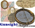 Click to view larger image of  important- U.S. Army then Confederate- Gen. David E. Twiggs - CAMEO (Image3)